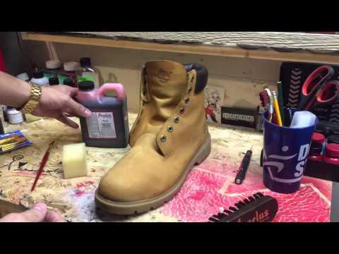 DIY Custom All Red Timberlands