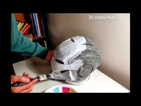 Iron Girl Timelapse Part 3 - EVA Foam Helmet PVA Glue Coating
