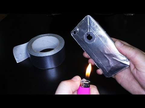 How To Make Fireproof Phone Case from Duct Tape