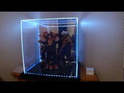 Large Acrylic 4 color LED light display case by Maybang's Collectibles.