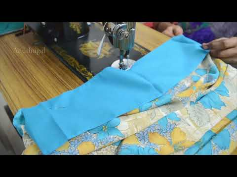 Easy Method for Saree Fall Stitching in Tamil - Tailoring Tutorials