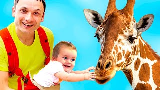 Learn animals with Zoo Song | Maya and Mary learn animals | Educational Video for Kids