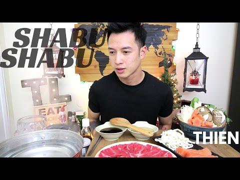 [mukbang/cookbang with THIEN]: SHABU-SHABU (Salmon and Rib Eye Steak in Japanese Hotpot)