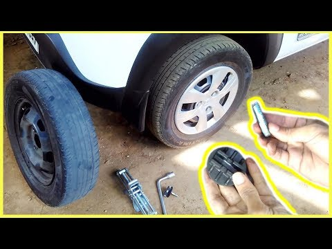 Renault Kwid How To Change A Spare Tyre - Little Different From Other Cars