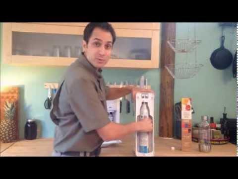 Sodastream Demo and Setup.  Sodastream Reviews, Ratings, Flavors, Soda Stream