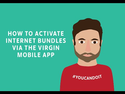 How to activate Internet bundles via the Virgin Mobile app