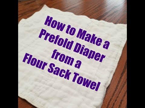 Sew a Prefold from a Flour Sack Towel
