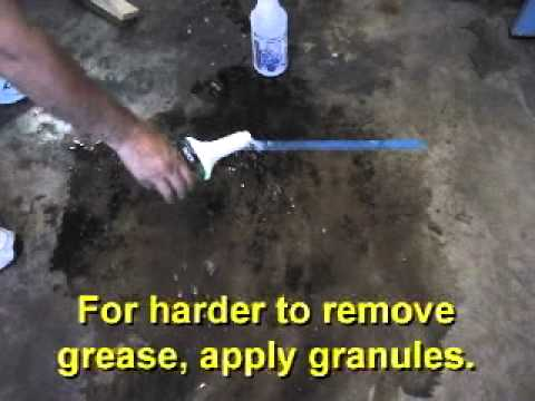 QUICK DEGREASER on Garage Floor Oil and Grease Stains