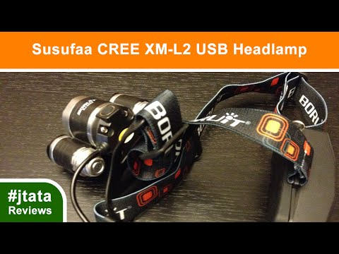CREE XM L2 Brightest Waterproof Headlamp from Susufaa