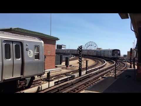On-Board a Stillwell Avenue bound R160B Siemens (Q) Train from Brighton Beach to Stillwell Avenue