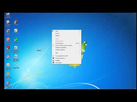 How to Hide Desktop Icon on LAPTOP! [HD]