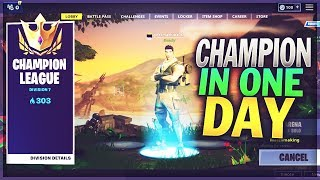 I Reached Champion Division in 1 Day of Fortnite