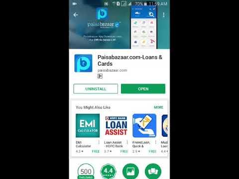 Paisa Bazaar Loan, Credit Score and Credit Card All in One App.
