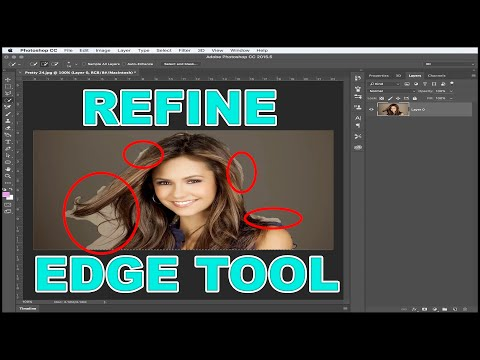 How To Find Refine Edge Tool In Photoshop CC 2017 Where To Find Refine Tool