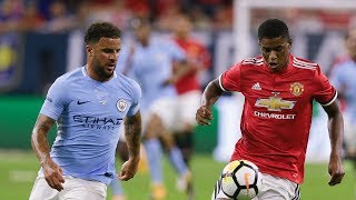 Marcus Rashford Vs Kyle Walker • Speed Race || Us Tour 2017/18
