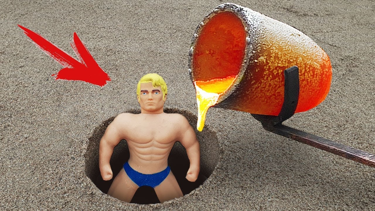 Experiment: Lava and Stretch Armstrong Underground!