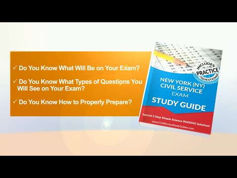 New York Exam Civil Service Test Study Guide
