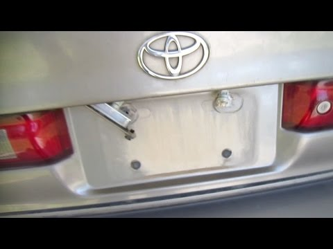 How to Find Toyota Camry License Plate Light Tail Light Problems
