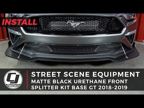 2018-2019 Mustang Install: Street Scene Equipment Urethane Front Splitter Kit