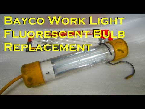Bayco Work Light Fluorescent Bulb Replacement