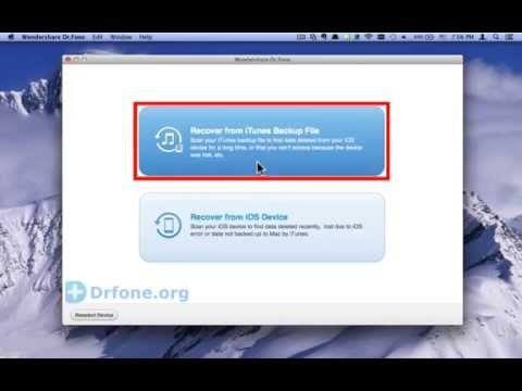 Dr.Fone for iPod Touch 5G: How to Recover iPod Touch 5G Data Notes from iTunes Backup(Mac)