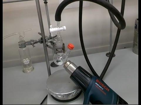 Heat gun in the Chemistry Laboratory