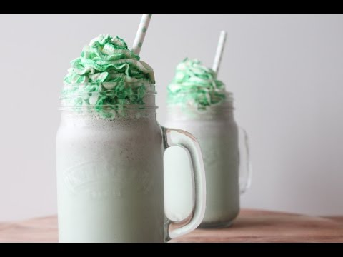 How To Make Mint M&M's Milkshake For St. Patrick's Day - By One Kitchen Episode 434