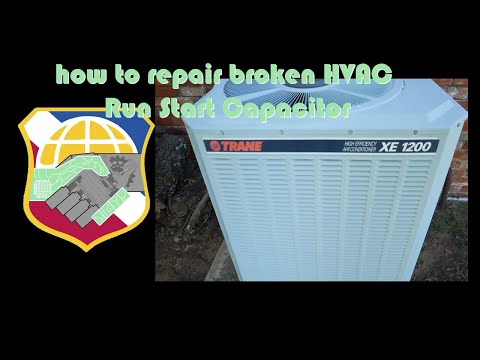 4K AC fan not working - how to repair broken HVAC Run Start Capacitor - air condition