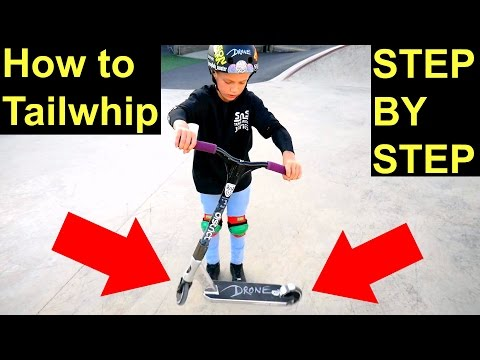 How to Tailwhip on a Scooter✅EASIEST & FASTEST WAY⚠️‼️