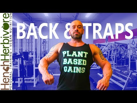 Back & Traps Muscle Building Workout | Vegan Fitness