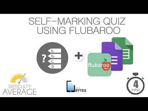 Tech Bytes - Self Marking Quiz using Flubaroo