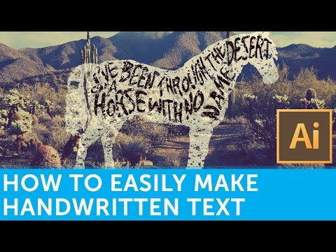 How To Make Handwritten Text The Easy Way | Solopress Tutorials