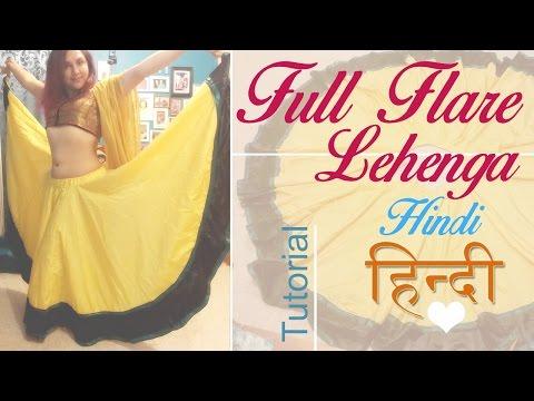Full Flare lehenga- double circular (हिन्दी:HINDI)