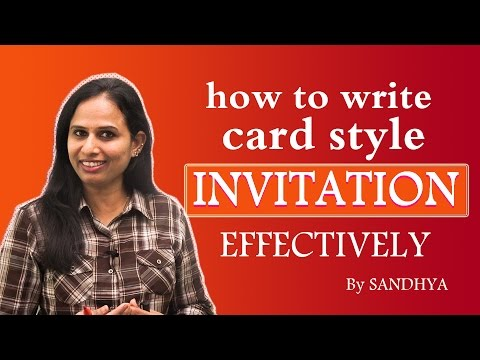 HOW TO WRITE CARD STYLE INVITATIONS || EASY ENGLISH||PULIHORAPOTLAM