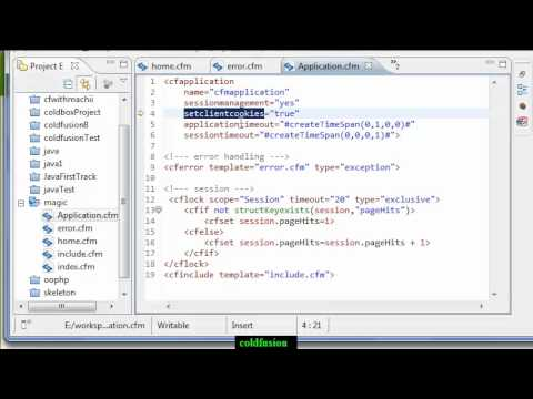 ColdFusion Video Tutorial : Application.cfm and Application.cfc (Part2)