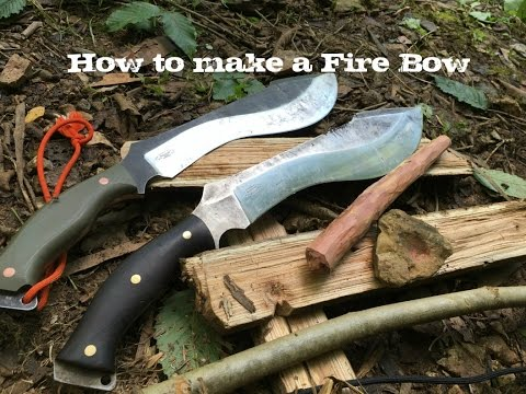 How to make a fire bow with Bushcraft to Survive