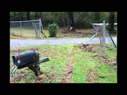 Chain link fence damage before and after repair Jan 2016