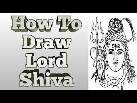 How To Draw Lord Shiva || Happy Maha Shivaratri || Lord Shiva Drawing || Mohan Murthy