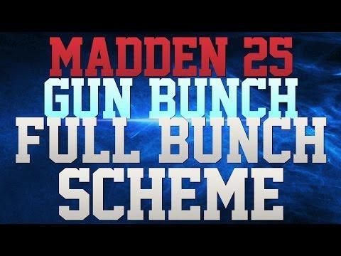 MADDEN 25 TIPS - OFFENSIVE TIPS!! - SHOTGUN BUNCH STR MINI-SCHEME - DOMINATE ON OFFENSE!!