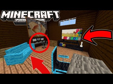11 NEW Furniture In Minecraft PE 1.2.16+ (How To Get Furniture)