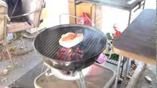 Swordfish Grilled On My Weber Jumbo Joe Charcoal Grill