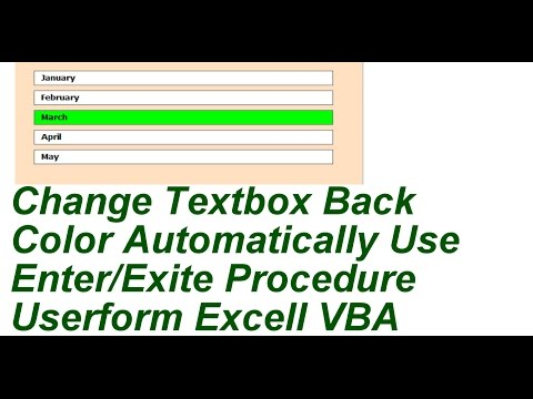 Change Textbox Back Color Automatically Excell VBA