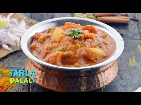 Mixed Vegetable Sabzi – Restaurant Style by Tarla Dalal