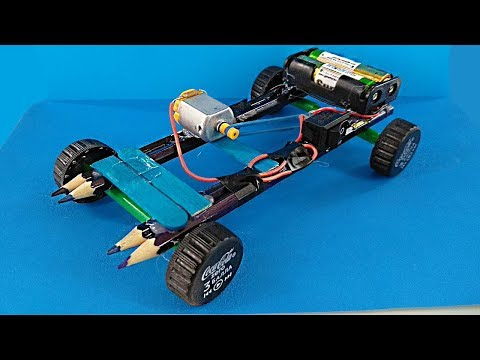 HOW TO MAKE a SIMPLE CAR WITH a DC MOTOR / DIY CAR at HOME