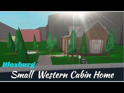 ROBLOX | Welcome to Bloxburg: Small Western Cabin Home Speedbuild