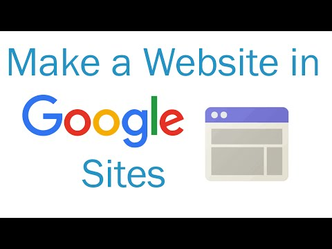 How to make a website in Google Sites