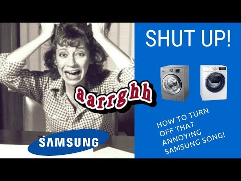 How To Turn Off Samsung Washing Machine Song & Sound