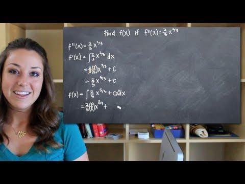 Find f(x) given f''(x), its second derivative (KristaKingMath)