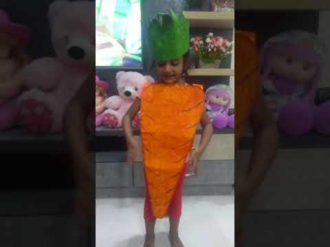 Carrot dress for kids