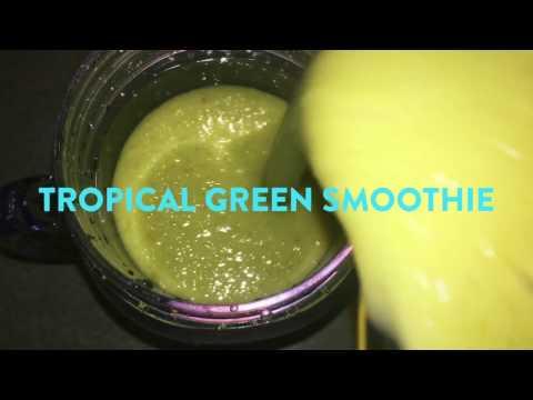 Tropical Green Smoothie  | Easy & Vegan